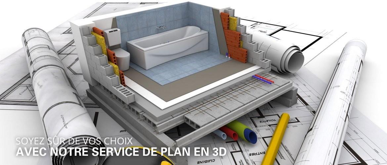 Nous pouvons vous proposer un service de plan en 3D pour visualiser de manière réaliste votre projet